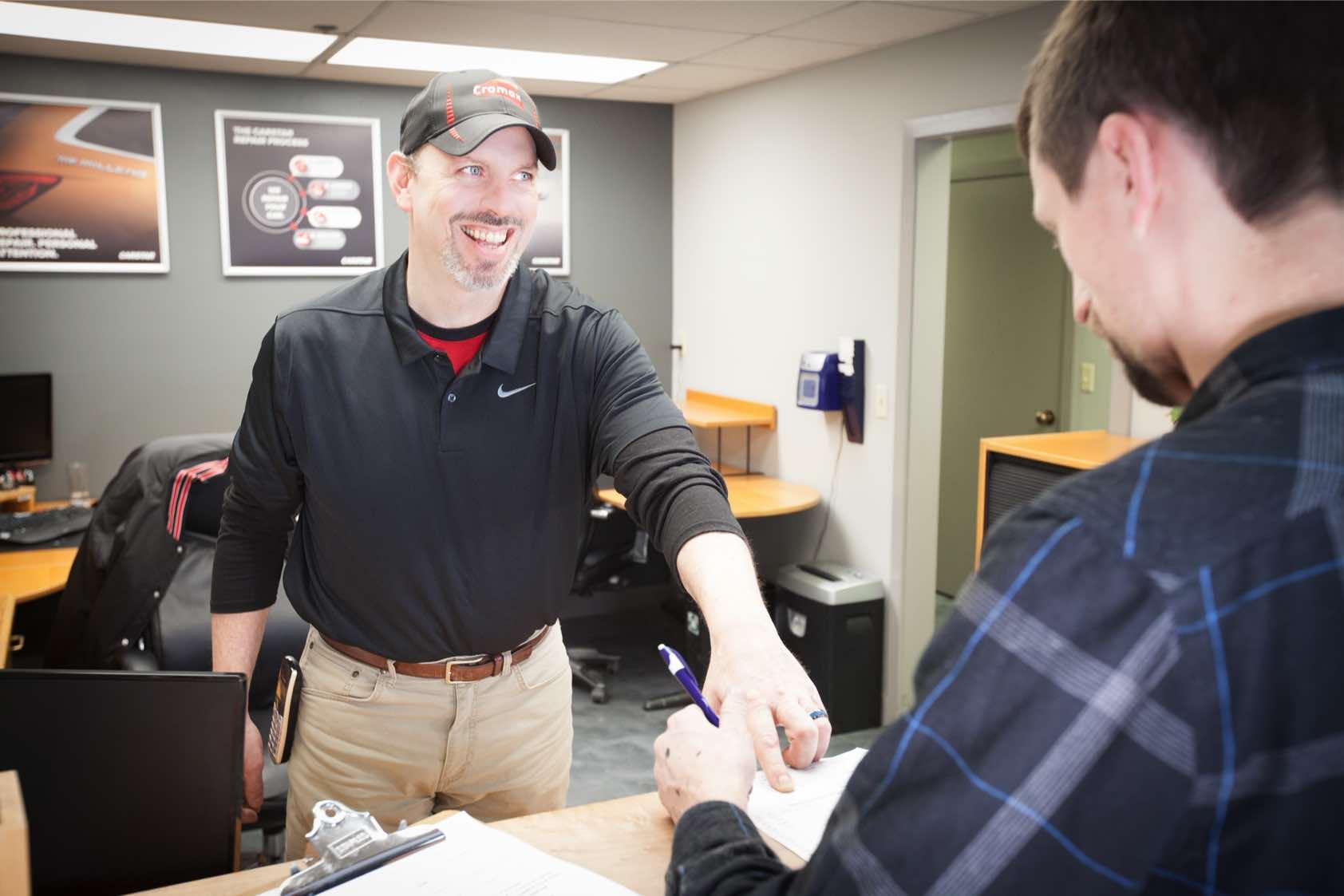 Jamie Schiele provides quality customer service