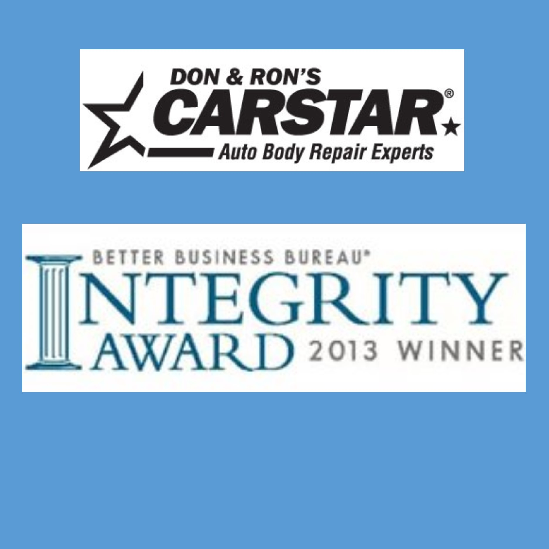 CARSTAR Don & Ron's Auto Body Repair Experts - BBB Award