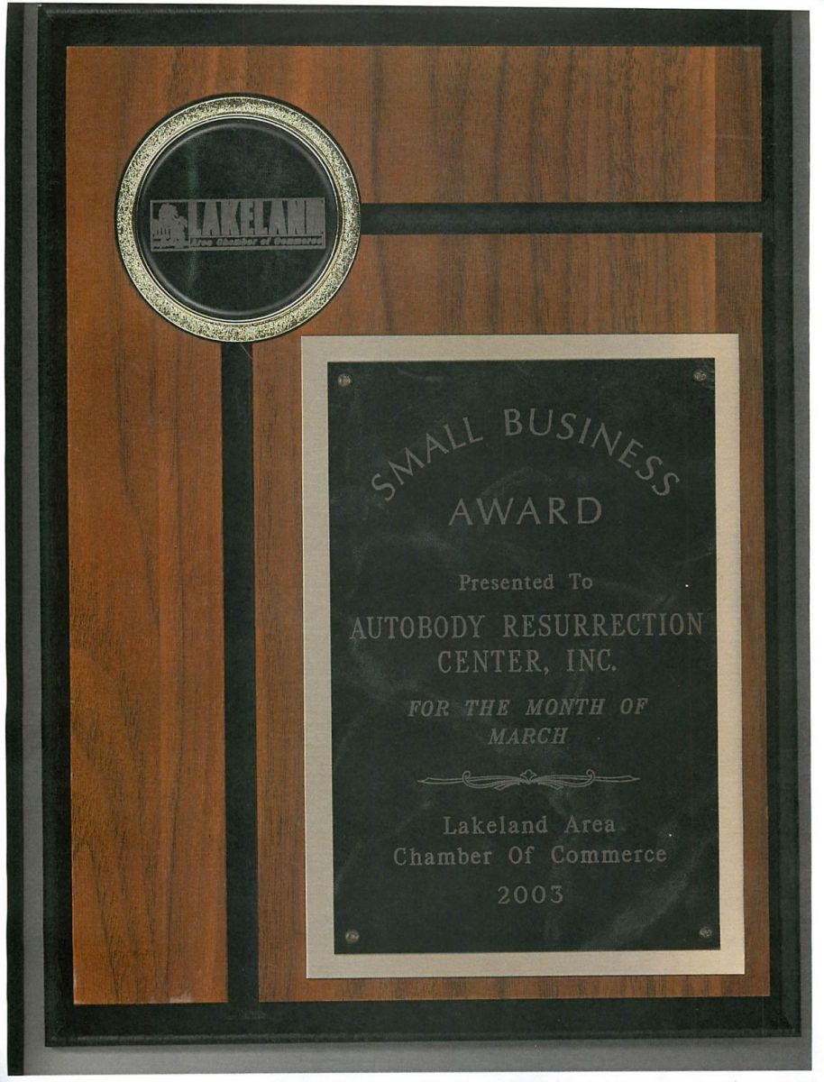 AutobodyResurrection CARSTAR: Small Business Award