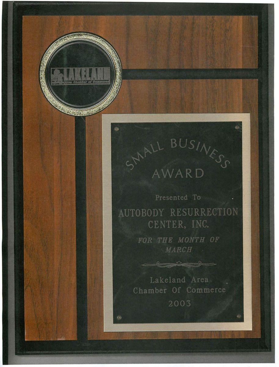 Carstar | AutobodyResurrection CARSTAR: Small Business Award
