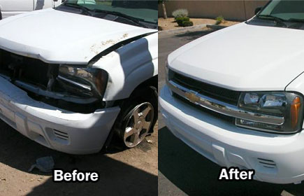 Eric's Auto Center CARSTAR: Before & After repair