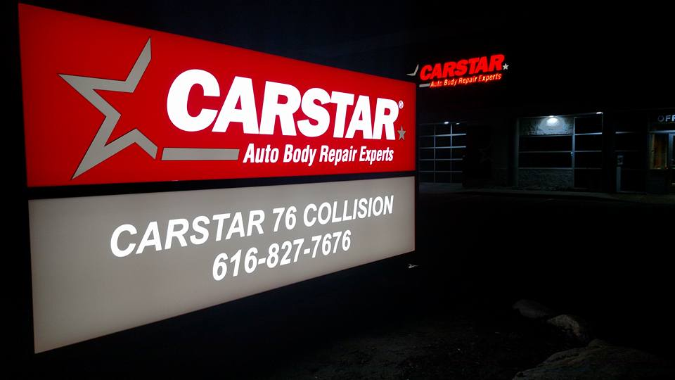 CARSTAR 76 Collision: Front Sign