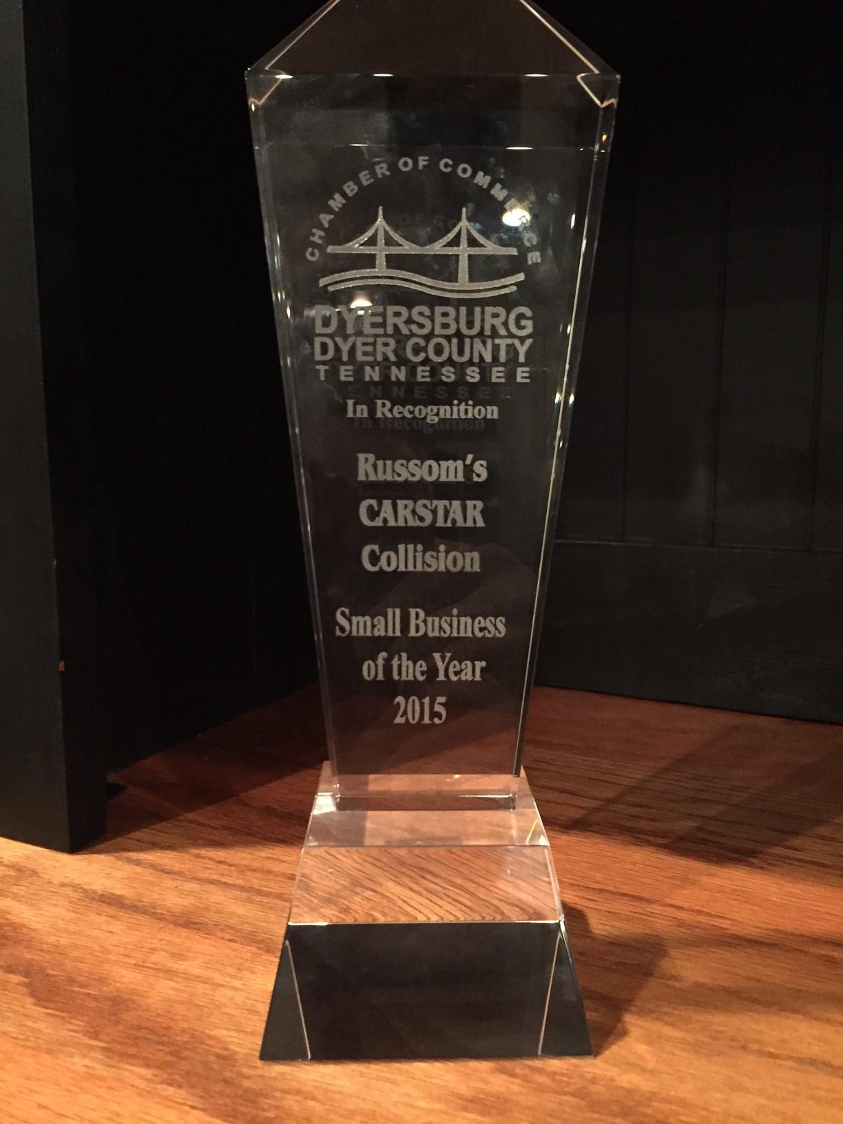 Carstar | Russom's CARSTAR: Small Business of the Year Award