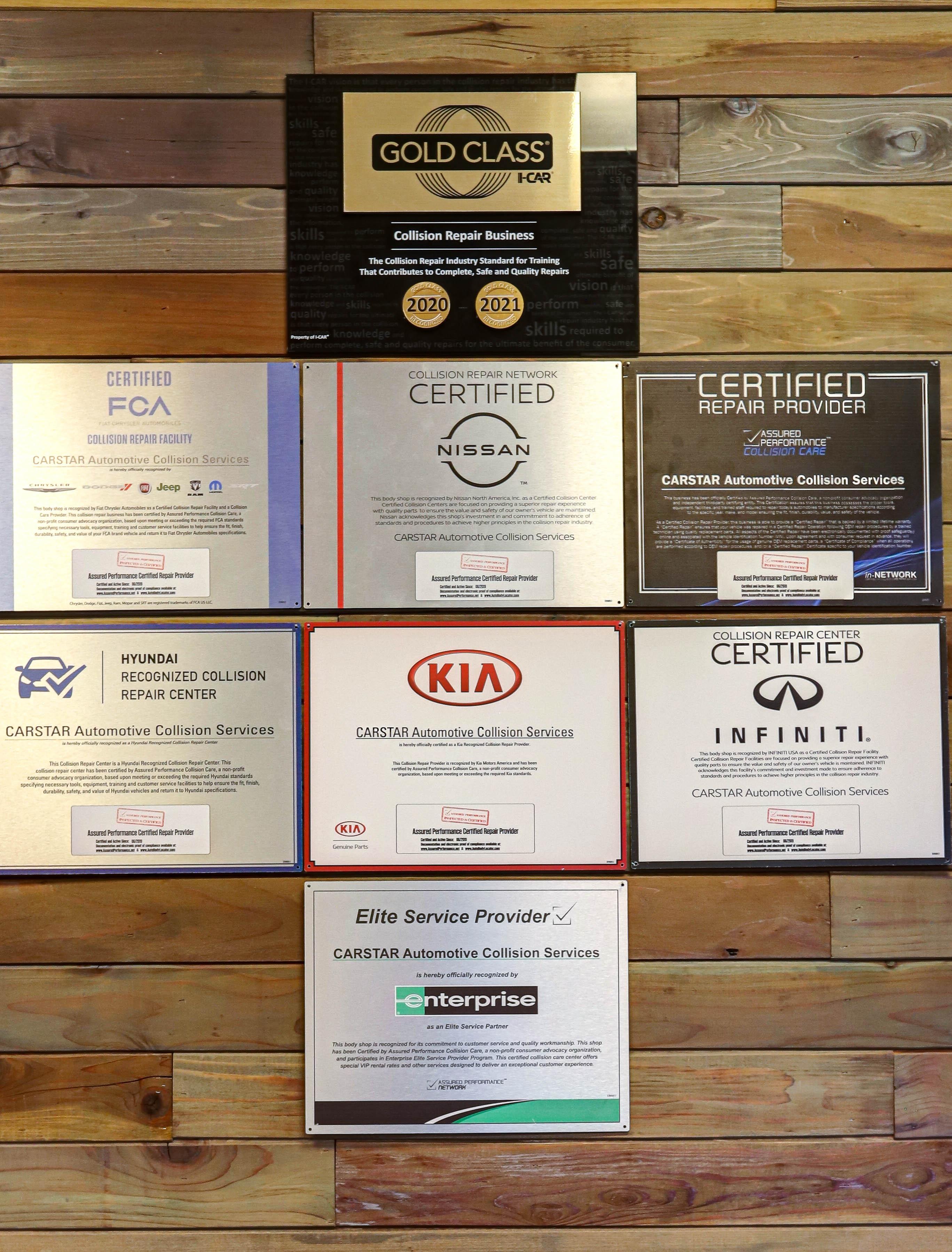 Carstar | Certifications