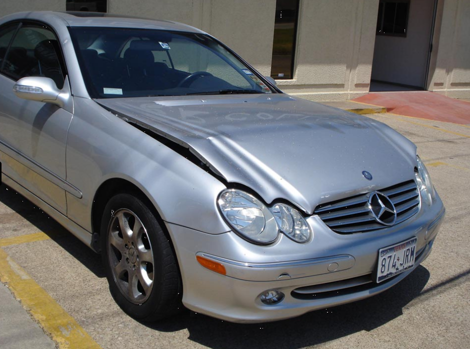 Mercedes Sedan Before Body Repair Damage Collision Dallas North Texas