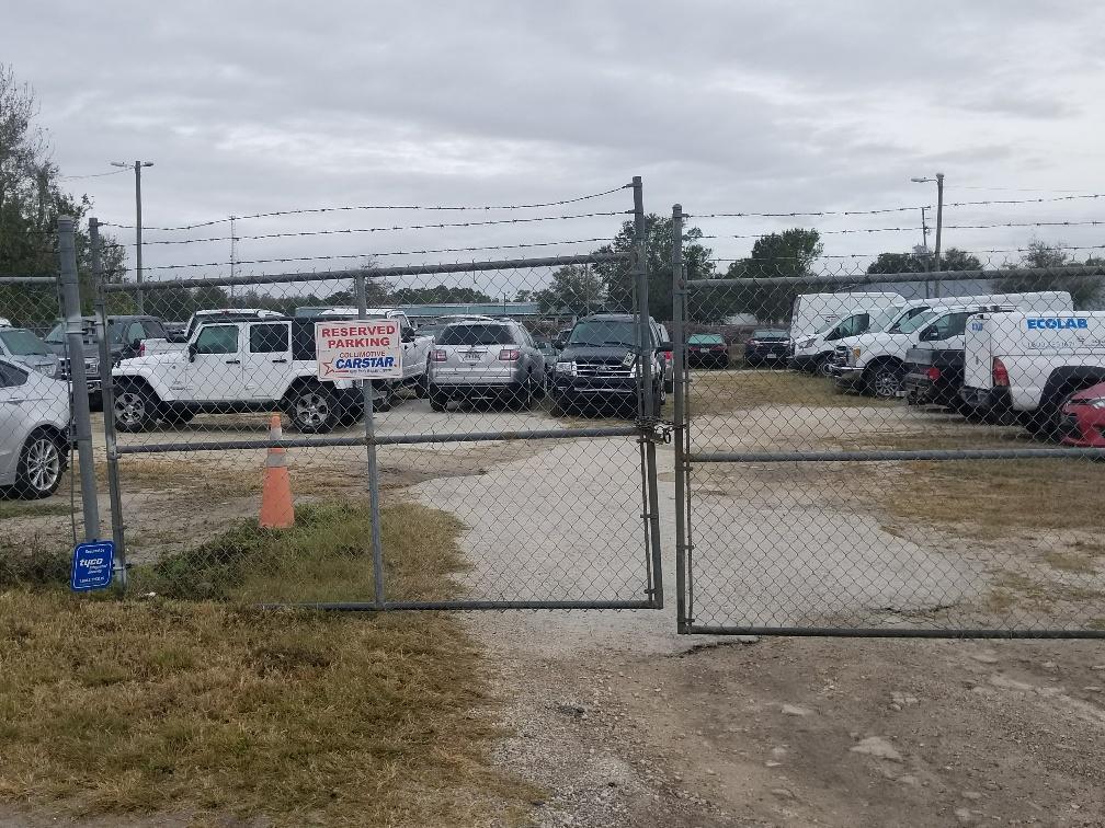 Outside secured storage lot