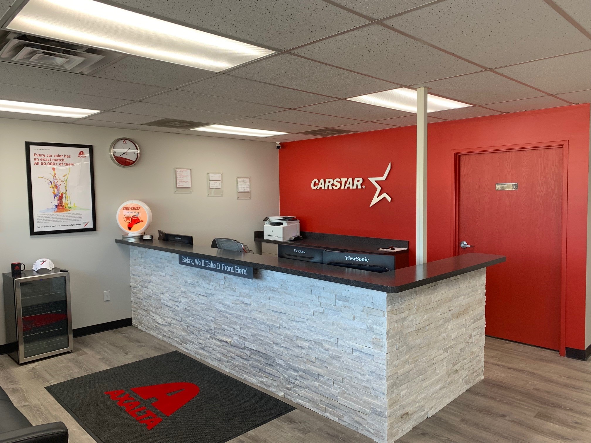 carstar hamlin, hamlin collision center, interior
