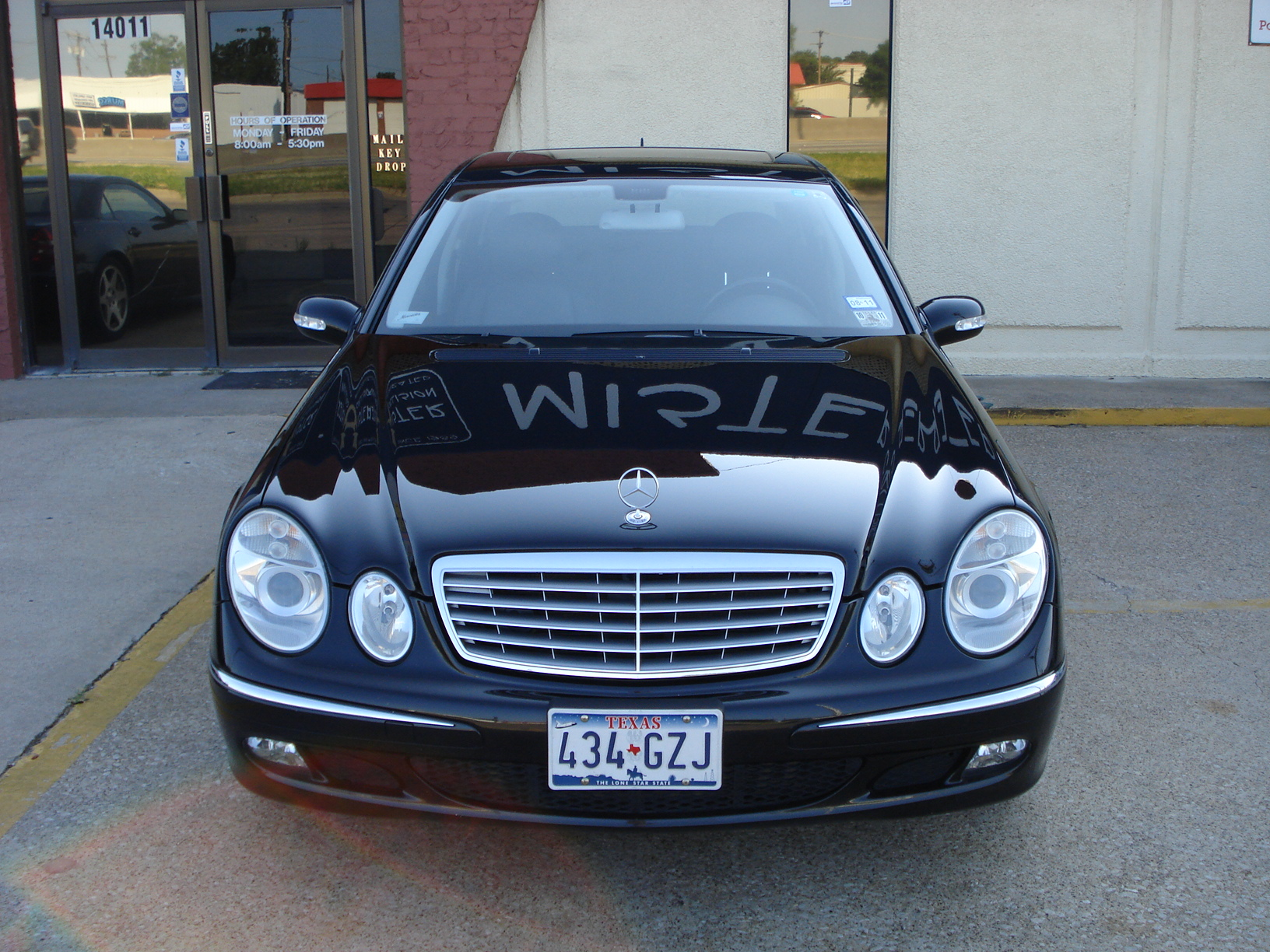 Mercedes Sedan After Body Repair Damage Collision Dallas North Texas