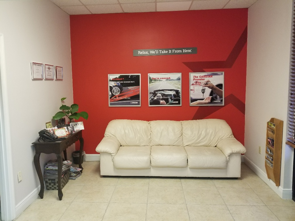 Front office waiting area