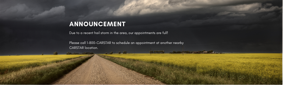 hail storm, appointments, carstar