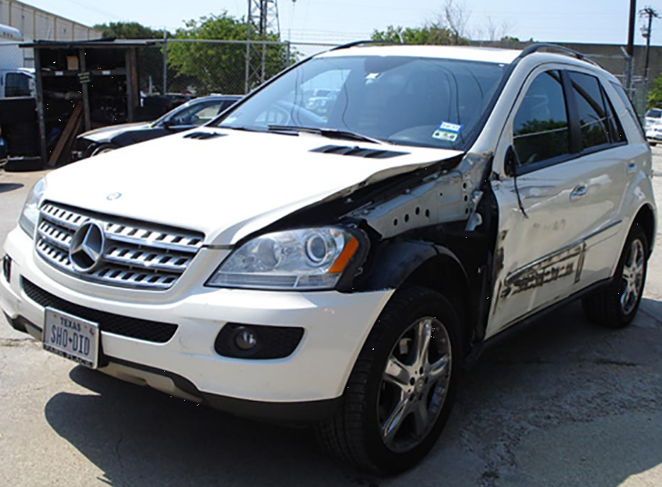 Mercedes SUV Before Body Repair Damage Collision Dallas North Texas