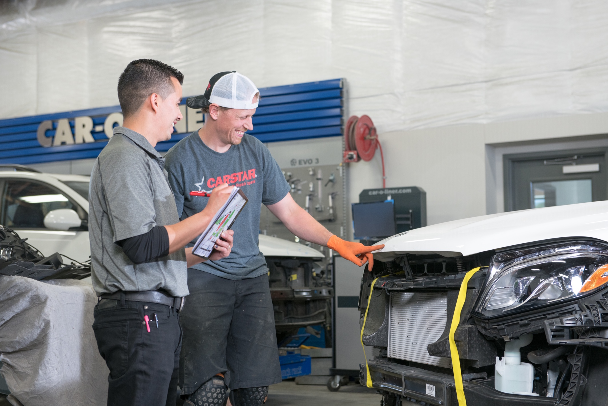 Carstar | Cesar Juarez- Shop Manager and Brit Balant- Autobody Technician